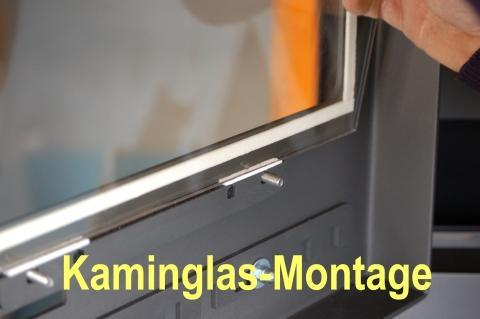 Bei der Glasmontage unbedingt auch neue feuerfeste Vorlegebänder mit  einbauen. - (Kamin)