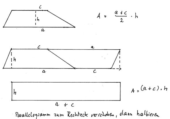Trapezberechnung - (Internet, Mathe, Mathematik)
