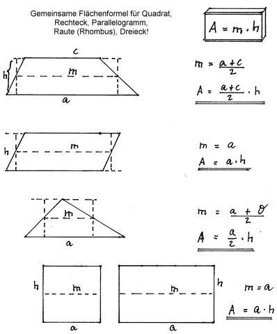 Allgemeine Flächenformel - (Internet, Mathe, Mathematik)