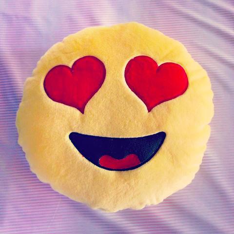 Herz Smiley Kissen - (WhatsApp, Smiley, Kissen)