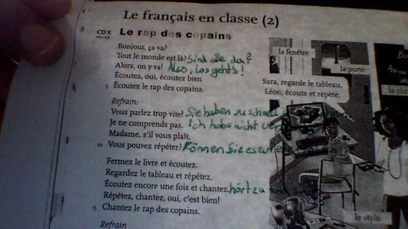 Französisches Gedicht Klett Verlag Schule Französisch