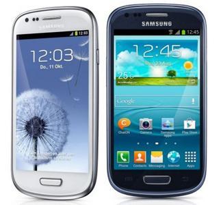 Samsung Galaxy S3 Mini in Pebble Blue und Marble White - (Handy, Samsung Galaxy S3)