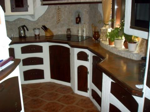 einbauk che im mediterranen stil aus gasbeton selbst bauen handwerker heimwerker. Black Bedroom Furniture Sets. Home Design Ideas
