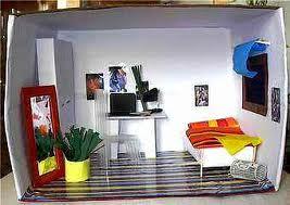zimmer im schuhkarton gestalten kunst hausaufgaben. Black Bedroom Furniture Sets. Home Design Ideas