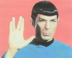 Spock - (Hand, Zeichen, mittelfinger)