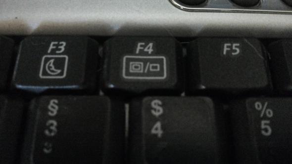 Laptop Bilschirm wechseln Taste - (Computer, PC, Technik)