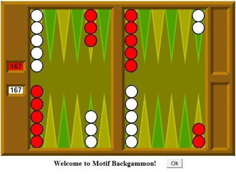 Backgammon Grundstellung
