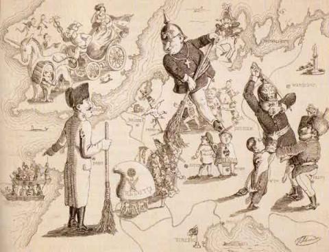 Rundgemälde von Europa - (Geschichte, Karikatur, bismarck)
