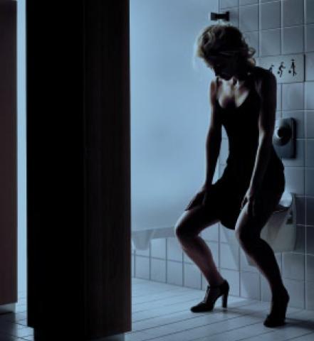 Leise pieselt das Reh... - (Toilette, Damentoilette, Herrentoilette)