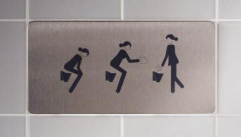 Ohne Worte - (Toilette, Damentoilette, Herrentoilette)
