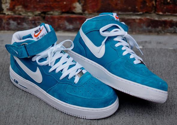 Nike Air Force 1 Mid Blau
