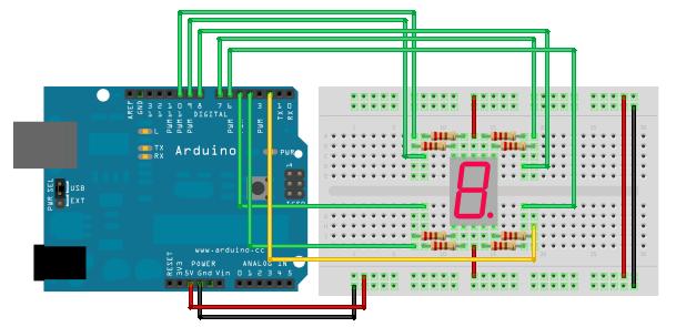 Segmentanzeige an arduino technik elektronik