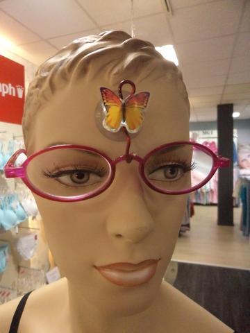 Aufhängevorrichtung für Brillen (mit einem Schmuckselement) - (Brille, Glasgläser)