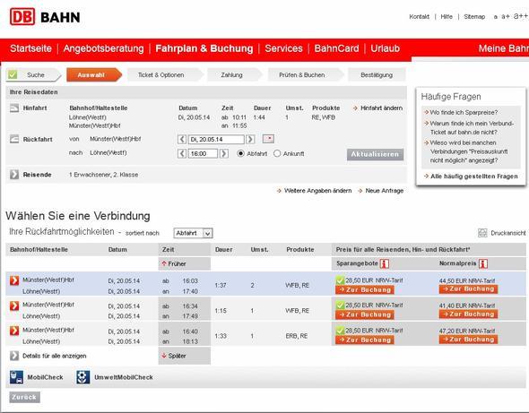 Screenshot - (Reise, Bahn, Ticket)