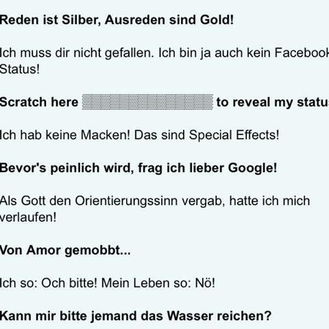 gute whatsapp sprüche gesucht :)