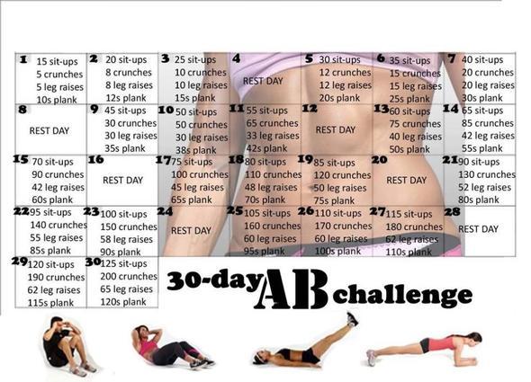 30 Day Challenge - (Sport, Mädchen, Bilder)