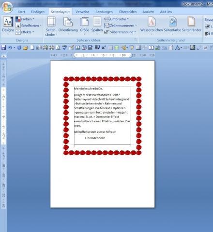 Word Seitenrand - (Word, Dokumente)