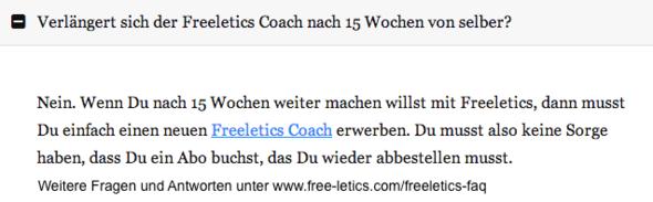 antwort zu frage - (Freeletics, Coach)