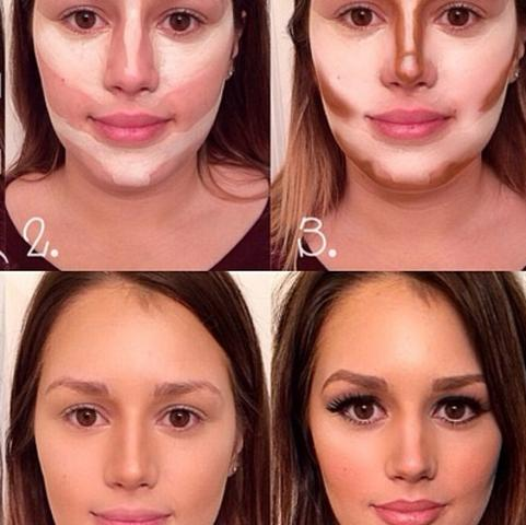 Contouring & Highlighting - (Beauty, Make-Up, Stars)