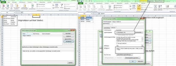 Kann ich in Excel SQL abfragen eingeben?