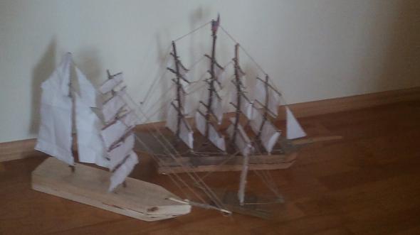 3 schiffe selber gebaut aber nicht vertig - (Freizeit, Hobby)