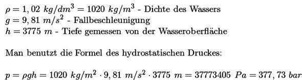 Druck - (Physik, Druck, Titanic)