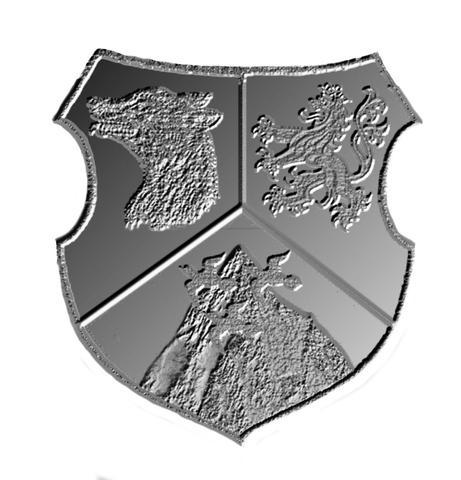 Das Wappen als Gravur - (Wappen, Heraldik, familienwappen)