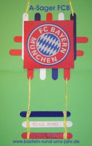 A-Sager FC Bayern München von www.basteln-rund-ums-jahr.de - (Kleidung, basteln, waschen)