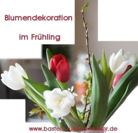 Blumendekoration von www.basteln-rund-ums-jahr.de - (Kleidung, basteln, waschen)