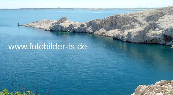 Blick von der Brücke vom Festland zur Insel Pag - Kroatien - (Urlaub, Kroatien)