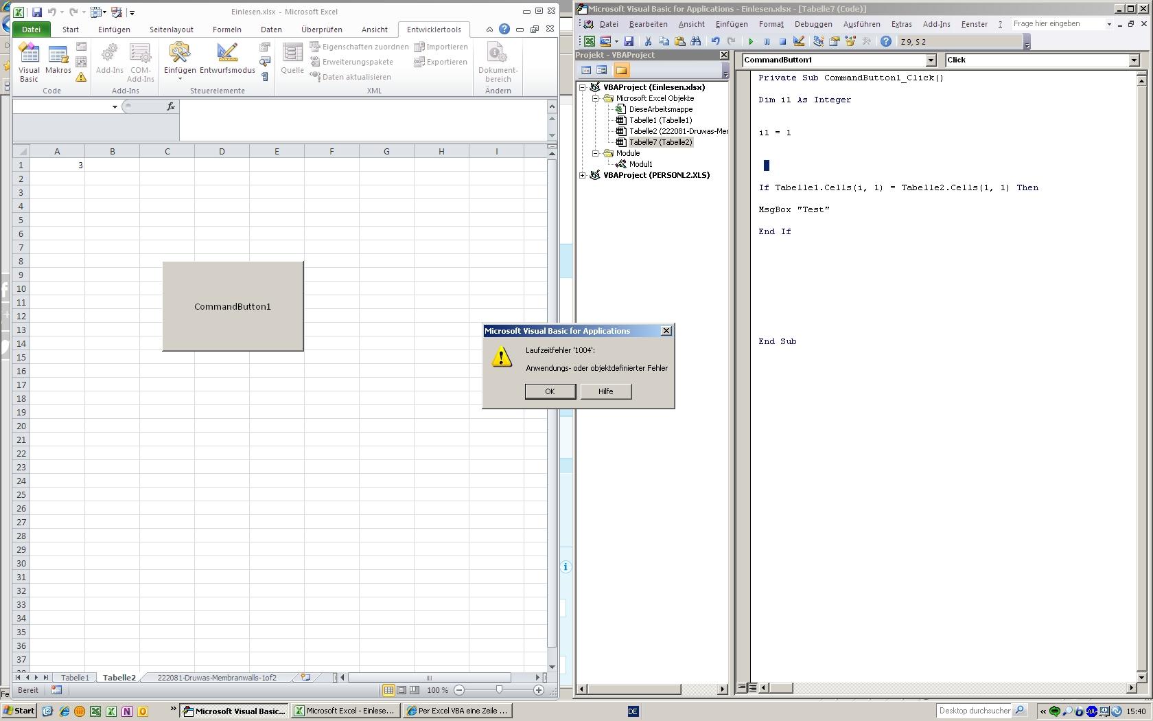 Excel Name Arbeitsblatt In Zelle Einfügen : Excel vba zellen nach string durchsuchen suchen ersetzen