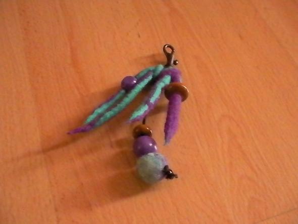 Gefilzter Schlüsselanhänger  - (Mädchen, Ideen, basteln)