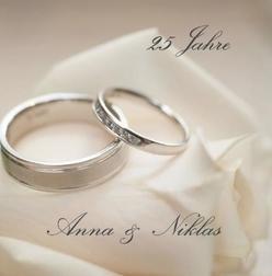 Silberne Ringe - (Einladung, Silberhochzeit, Selbst entwerfen)