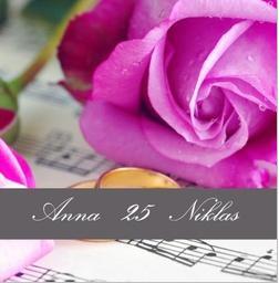 Ring und Rose - (Einladung, Silberhochzeit, Selbst entwerfen)