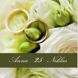 Ringe auf Frühlingsblumen - (Einladung, Silberhochzeit, Selbst entwerfen)