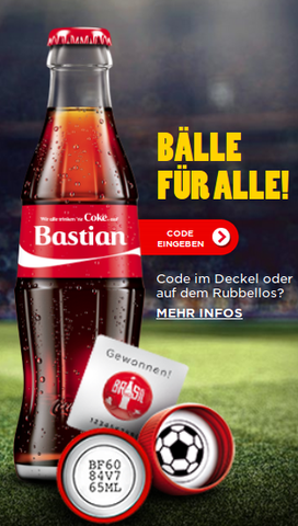 coke.de startseite - (deutsch, Gewinnspiel)