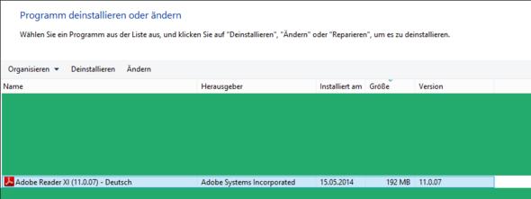 Programme Deinstallieren Adobe Reader - (Computer, AudoBVoiewEr)