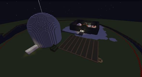 Der Spawn ( außen ) - (Minecraft, Server)