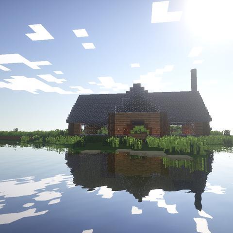 Das ist ein nettes Häuschen am See - (Games, Minecraft, Bilder)