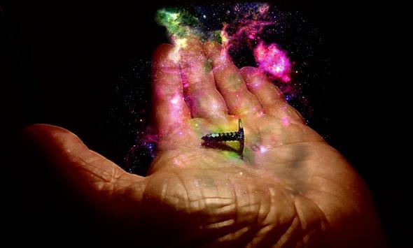 Galaxie in Hand, Gimp - (Foto, Fotografie, Bildbearbeitung)