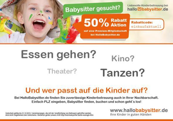 Beispiel - (babysitten, Überschrift, zettel)