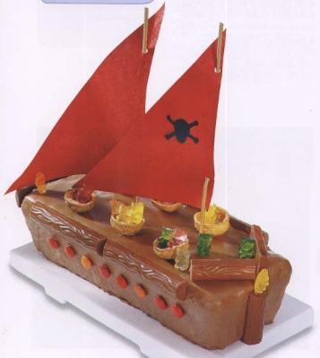 piratenschiff - (Kuchen, kleine-schwester, Geburtstagskuchen)
