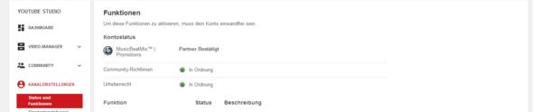 Kanaleinstellungen - (Youtube, Partner)