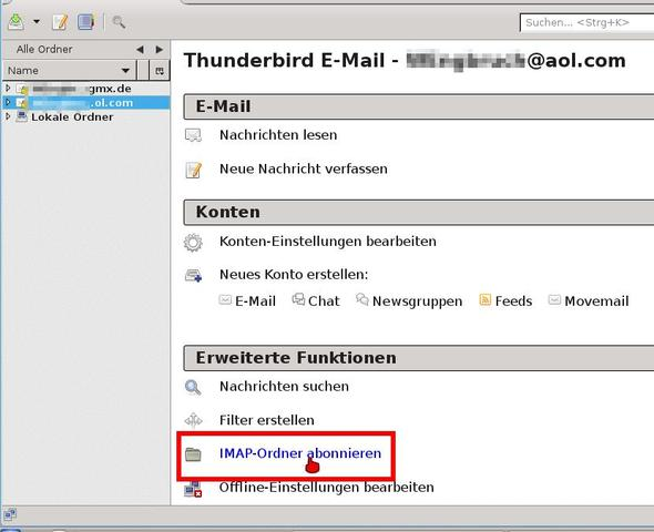 IMAP-Ordner abonnieren - (Computer, Mail, Thunderbird)