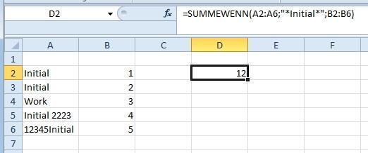 summewenn mit wildcards - (programmieren, Microsoft, Excel)