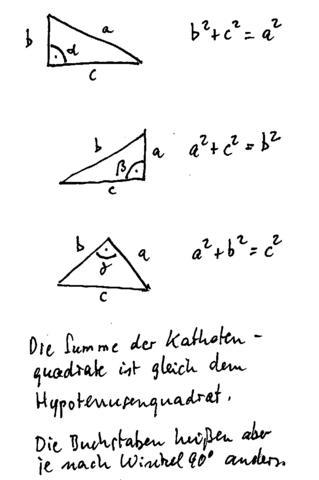 Pythagoras - (Mathematik, Satz des Pythagoras)