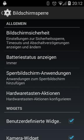 """Android 4.4.2: Hier die gewünschte """"Bildschirmsicherheit"""" einstellen - (Handy, Technik, Android)"""