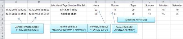 Grafik - (Excel, Office, Datumsdifferenz)