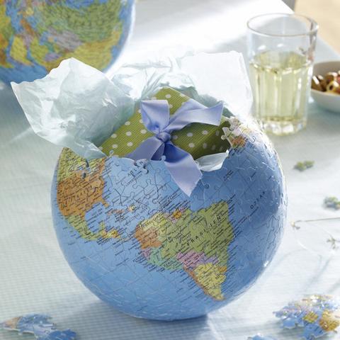 Idee Karte verpacken - (Geschenk, Reise, Geburtstag)