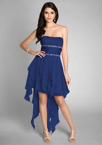 blau - (Kleid, Abschluss, High School)